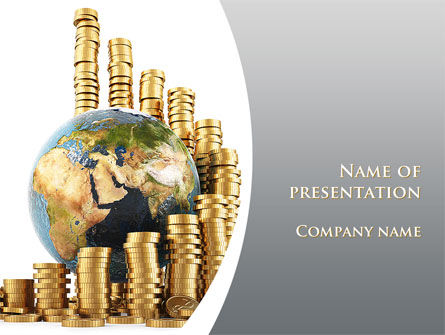 World Financial Reserves PowerPoint Template