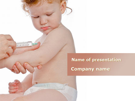 Medical: Childhood Vaccination PowerPoint Template #09934