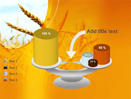 Golden Ear Of The Wheat PowerPoint Template Slide 10
