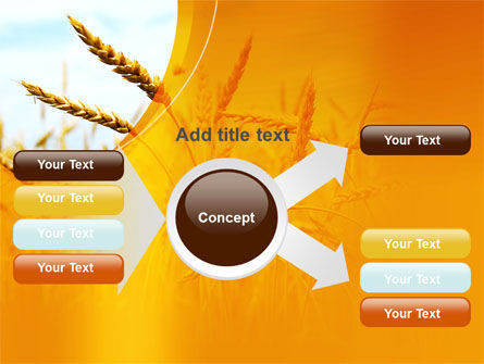 Golden Ear Of The Wheat PowerPoint Template Slide 14