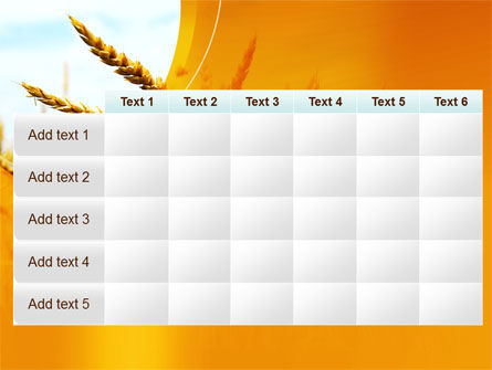 Golden Ear Of The Wheat PowerPoint Template Slide 15