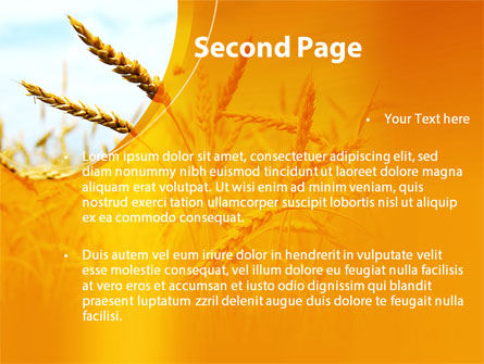 Golden Ear Of The Wheat PowerPoint Template Slide 2