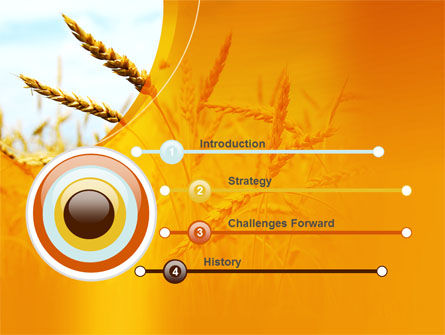 Golden Ear Of The Wheat PowerPoint Template, Slide 3, 09936, Agriculture — PoweredTemplate.com
