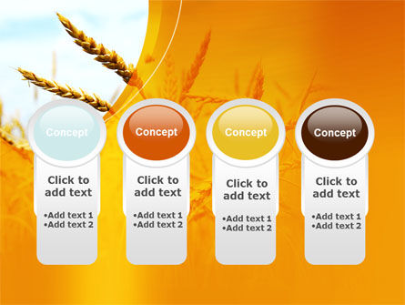 Golden Ear Of The Wheat PowerPoint Template Slide 5