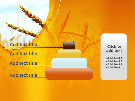 Golden Ear Of The Wheat PowerPoint Template Slide 8