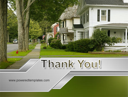 Suburban Lane PowerPoint Template Slide 20