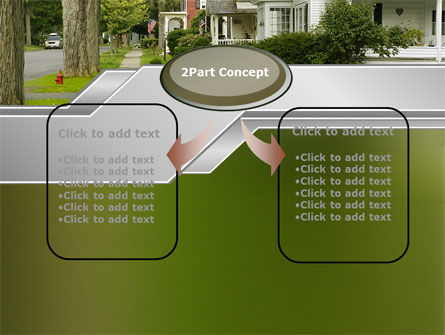 Suburban Lane PowerPoint Template, Slide 4, 09937, Construction — PoweredTemplate.com