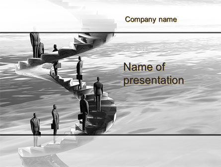 Winding Staircase Of Career PowerPoint Template, 09938, Consulting — PoweredTemplate.com