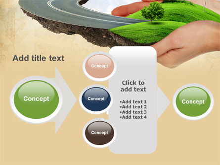 Road To The Beautiful City PowerPoint Template Slide 17
