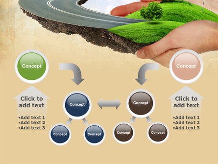 Road To The Beautiful City PowerPoint Template Slide 19