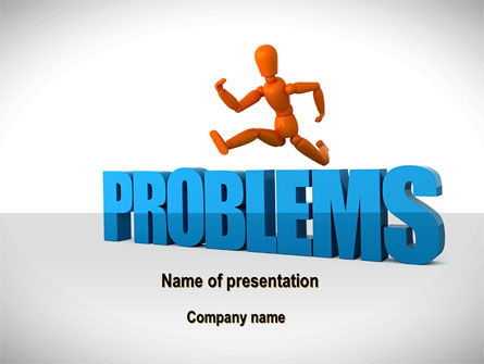 Jumping Over Problems PowerPoint Template