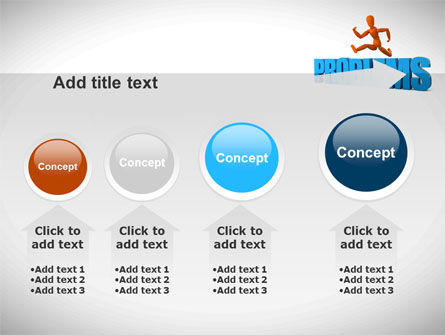 Jumping Over Problems PowerPoint Template Slide 13
