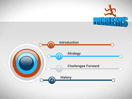 Jumping Over Problems PowerPoint Template, Slide 3, 09941, Consulting — PoweredTemplate.com