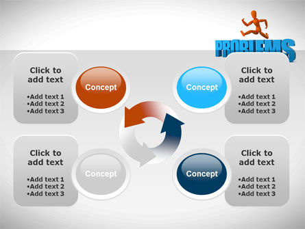 Jumping Over Problems PowerPoint Template Slide 9