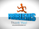 Jumping Over Problems PowerPoint Template#20