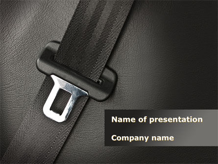 Seat Belt PowerPoint Template, 09942, Cars and Transportation — PoweredTemplate.com