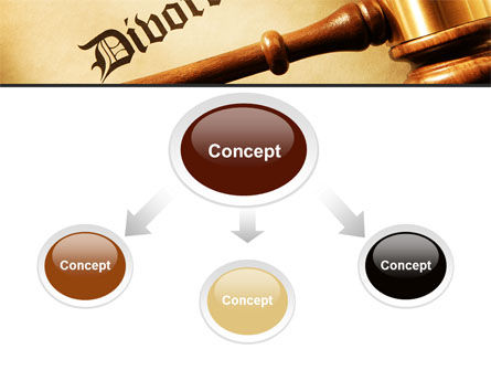 Divorce Decree With Gavel PowerPoint Template, Slide 4, 09945, Legal — PoweredTemplate.com