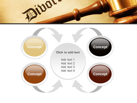 Divorce Decree With Gavel PowerPoint Template Slide 6