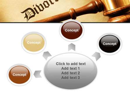 Divorce Decree With Gavel PowerPoint Template Slide 7