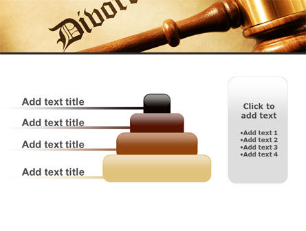 Divorce Decree With Gavel PowerPoint Template Slide 8
