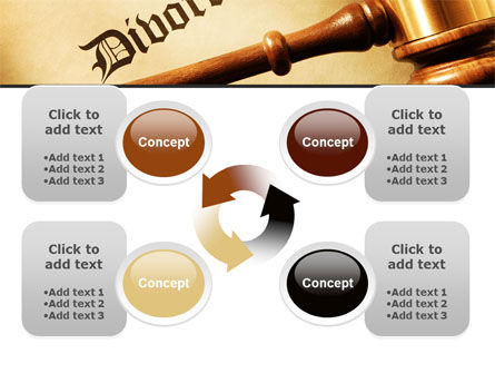 Divorce Decree With Gavel PowerPoint Template Slide 9