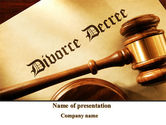 Legal: Divorce Decree With Gavel PowerPoint Template #09945