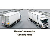 Cars and Transportation: Cargo Verkeer PowerPoint Template #09946