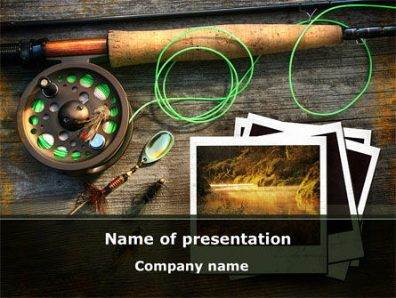 Fishing Tackle PowerPoint Template, 09947, Holiday/Special Occasion — PoweredTemplate.com