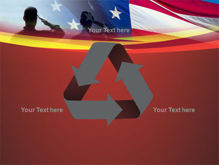 Saluting Flag Of The United States PowerPoint Template Slide 10