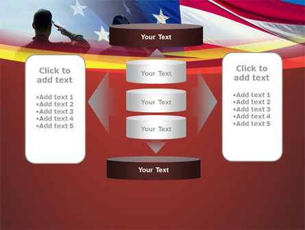Saluting Flag Of The United States PowerPoint Template Slide 13