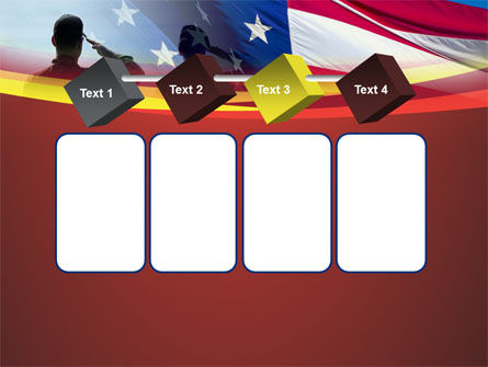 Saluting Flag Of The United States PowerPoint Template Slide 18