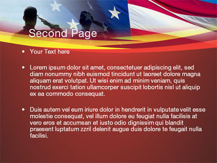 Saluting Flag Of The United States PowerPoint Template, Slide 2, 09948, America — PoweredTemplate.com
