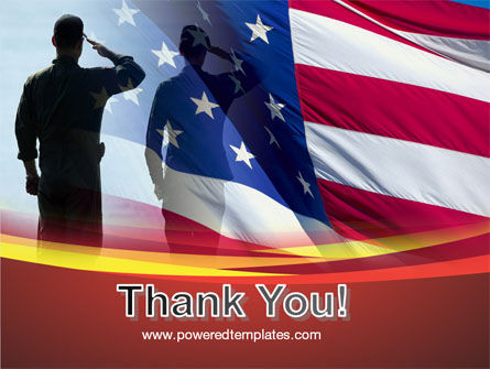 Saluting Flag Of The United States PowerPoint Template Slide 20