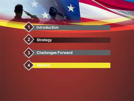 Saluting Flag Of The United States PowerPoint Template, Slide 3, 09948, America — PoweredTemplate.com