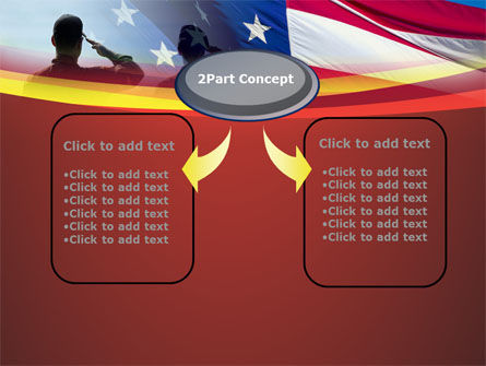 Saluting Flag Of The United States PowerPoint Template Slide 4
