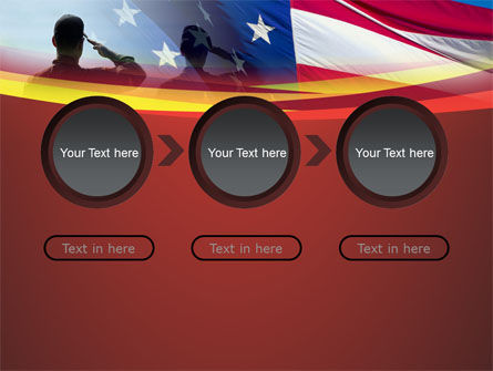 Saluting Flag Of The United States PowerPoint Template Slide 5