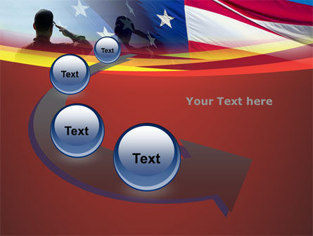 Saluting Flag Of The United States PowerPoint Template Slide 6