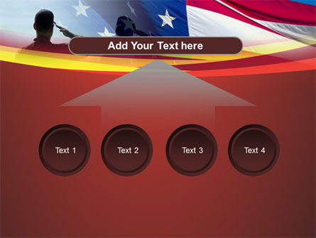 Saluting Flag Of The United States PowerPoint Template Slide 8
