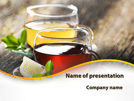 Food & Beverage: Two Cups Of Tea PowerPoint Template #09950