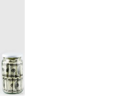 Glass Jar Full Of Dollars PowerPoint Template, Slide 3, 09951, Financial/Accounting — PoweredTemplate.com