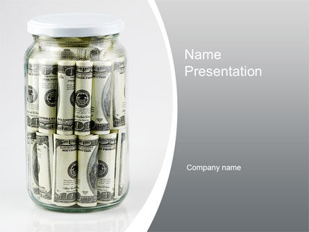 Financial/Accounting: Glass Jar Full Of Dollars PowerPoint Template #09951