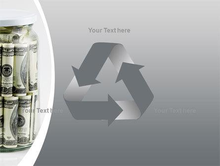 Glass Jar Full Of Dollars PowerPoint Template Slide 10