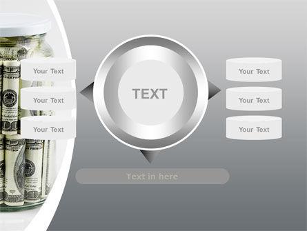 Glass Jar Full Of Dollars PowerPoint Template Slide 12