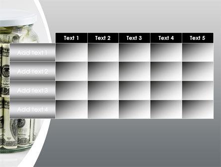 Glass Jar Full Of Dollars PowerPoint Template Slide 15