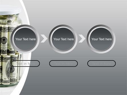 Glass Jar Full Of Dollars PowerPoint Template Slide 5
