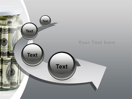 Glass Jar Full Of Dollars PowerPoint Template Slide 6