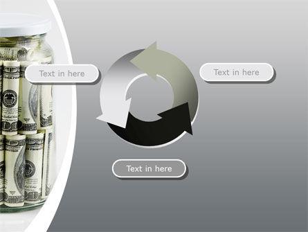 Glass Jar Full Of Dollars PowerPoint Template Slide 9