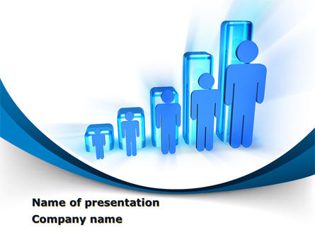 Rise Of Population In Histogram PowerPoint Template
