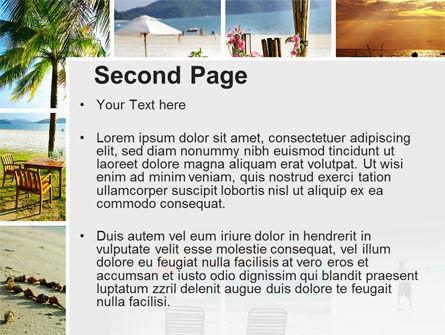 Beach Fun PowerPoint Template, Slide 2, 09954, Health and Recreation — PoweredTemplate.com