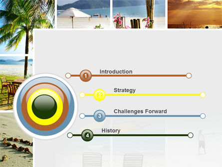 Beach Fun PowerPoint Template, Slide 3, 09954, Health and Recreation — PoweredTemplate.com
